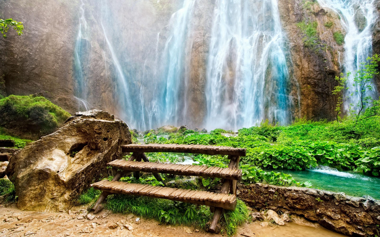 водопад осень вода брызги камни бесплатно