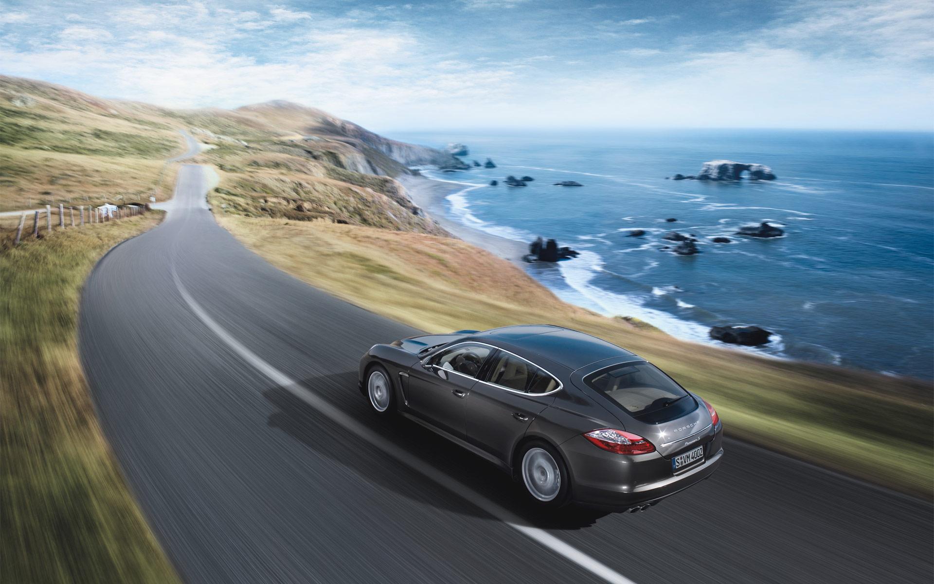 Porsche Panamera дорога скорость бесплатно