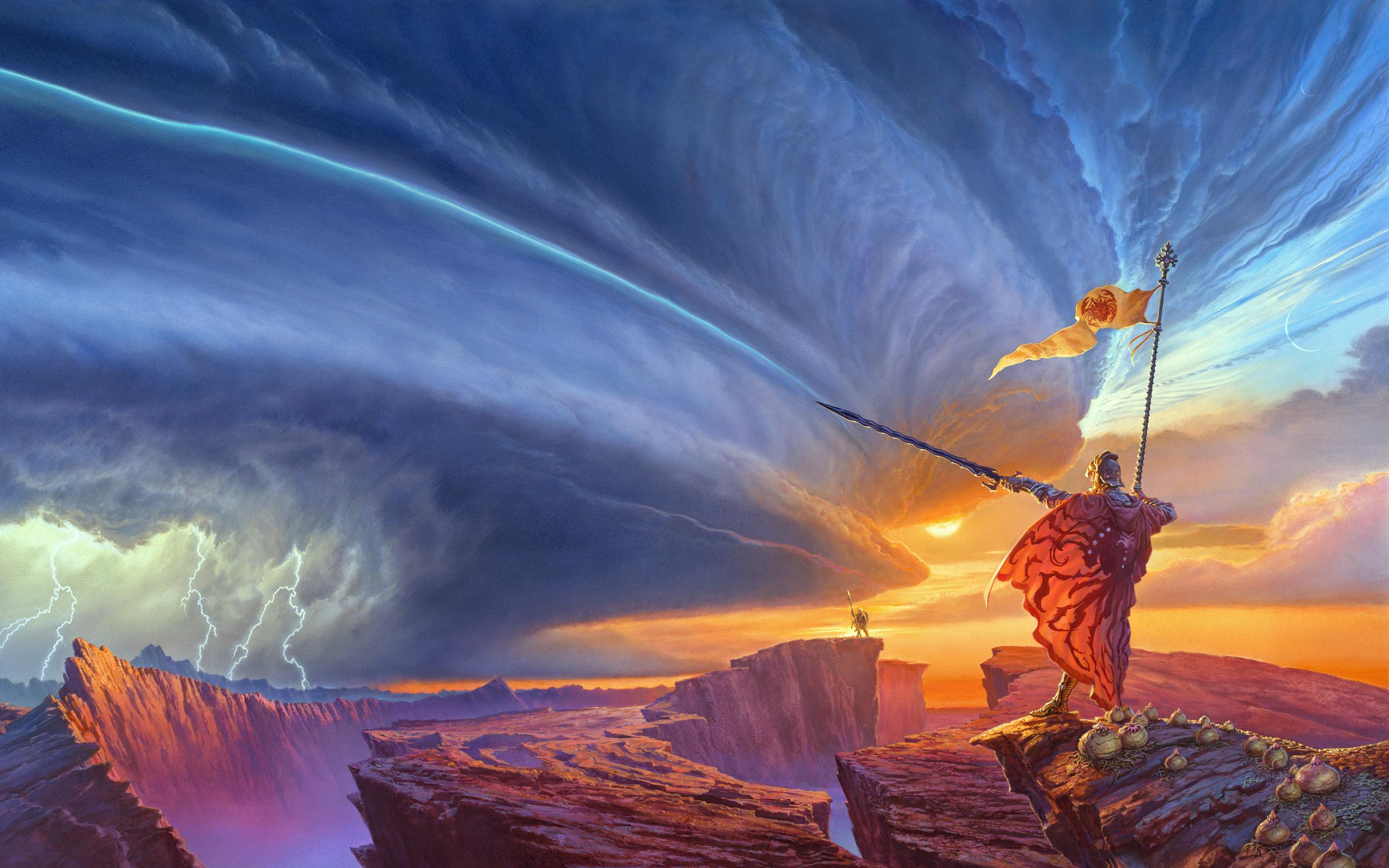 небесные фонари рыцарь меч луна  № 3714312 бесплатно