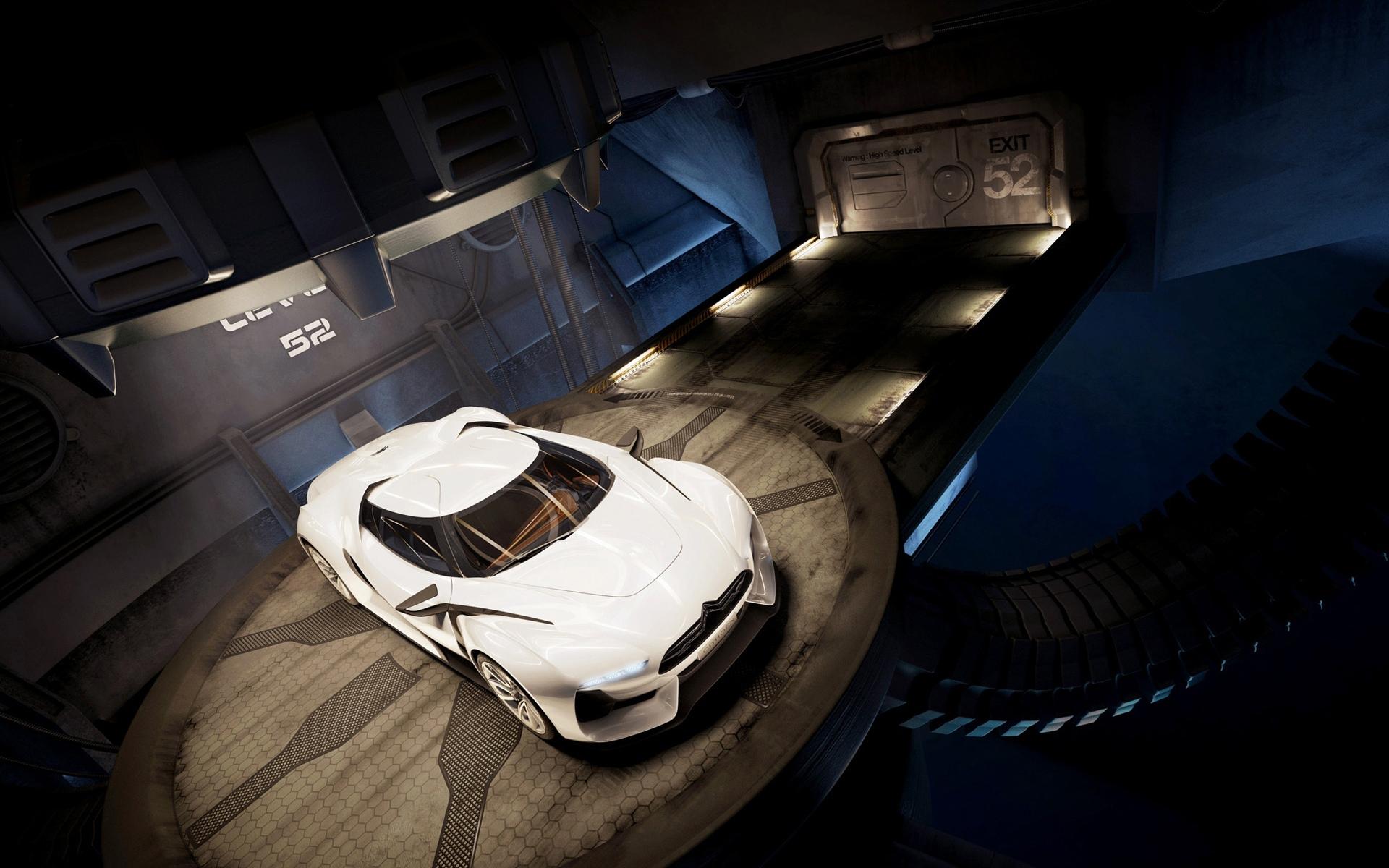 белый спортивный автомобиль citroen white sports car без смс