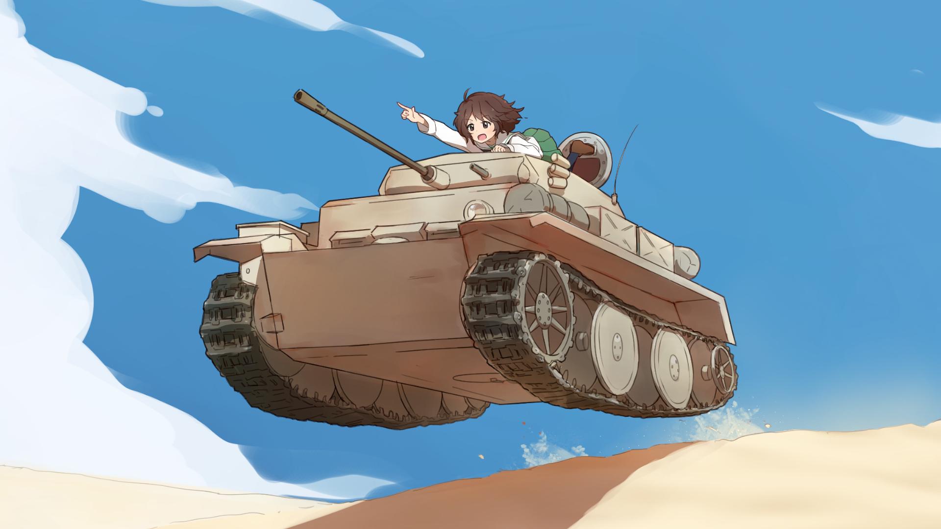Аниме картинки с танкистами