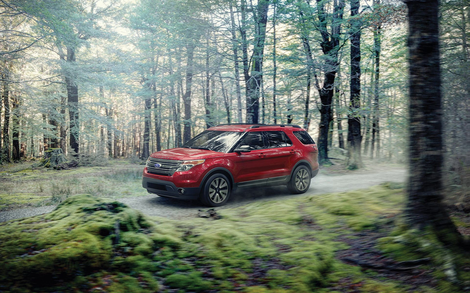 красный автомобиль джип Ford Explorer Sport бесплатно