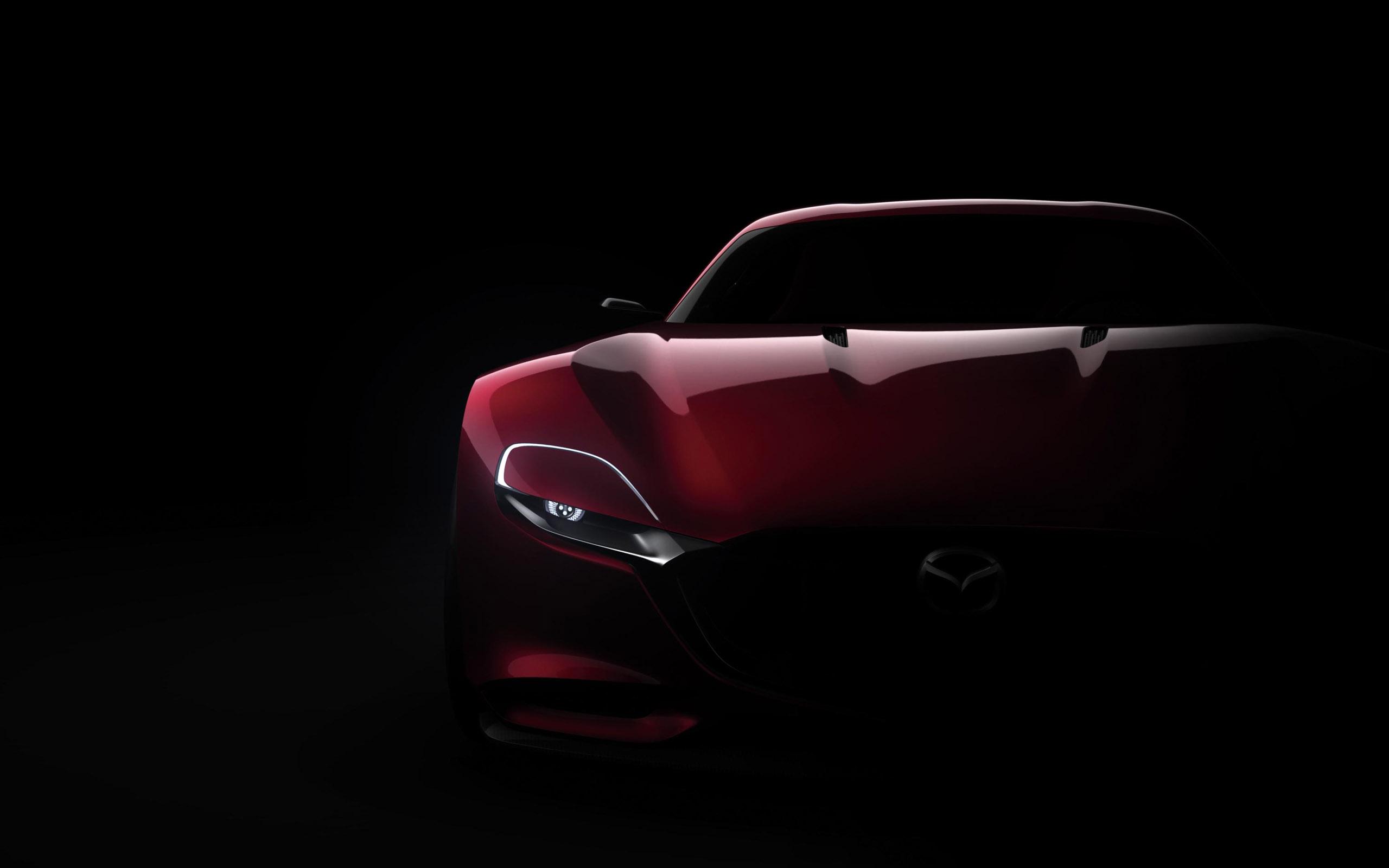 спортивный желтый автомобиль Mazda RX-Vision концепт  № 727313  скачать