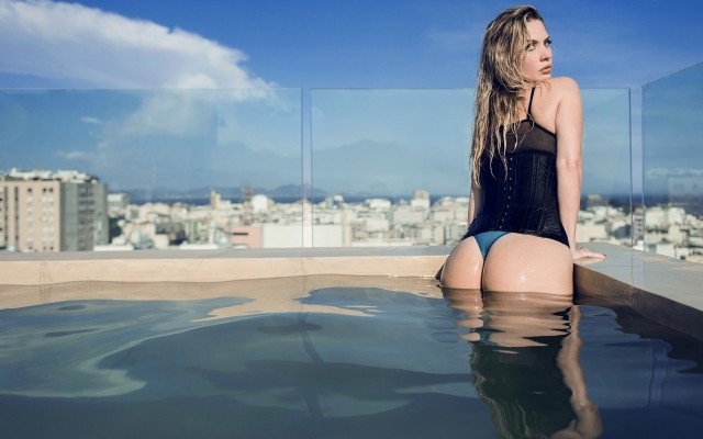 Filthy David Ben Haim Swimming Pool Ass Women Top Photos 1