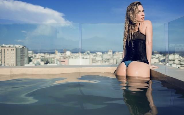 Filthy David Ben Haim Swimming Pool Ass Women Top Photos 1